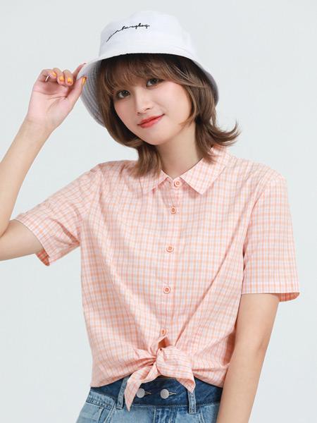Jeanswest真�S斯女�b品牌2021夏季格子甜美�r衣