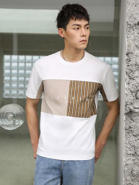 SEMOO男装品牌2021夏季纯棉时尚T恤
