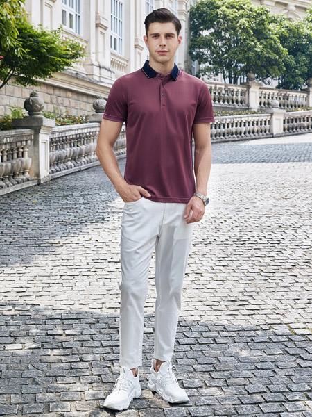 爱迪丹顿男装品牌2021夏季休闲纯棉POLO衫