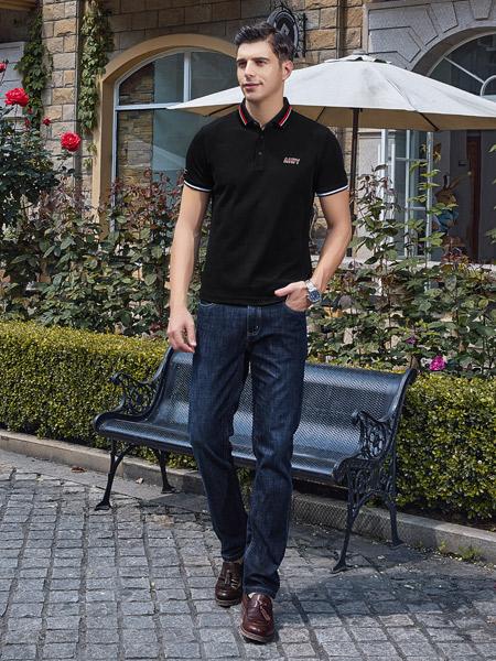 爱迪丹顿男装品牌2021夏季帅气POLO衫