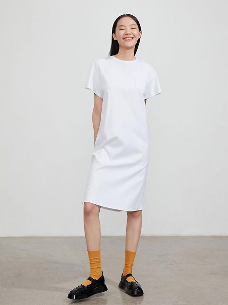 EXCHANGEYOURMOOD女装品牌2021夏季简约风T恤连衣裙