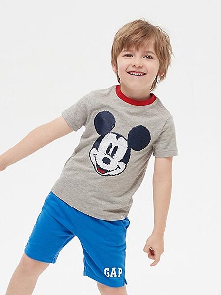 中启服饰童装品牌2021夏季米老鼠图案T恤
