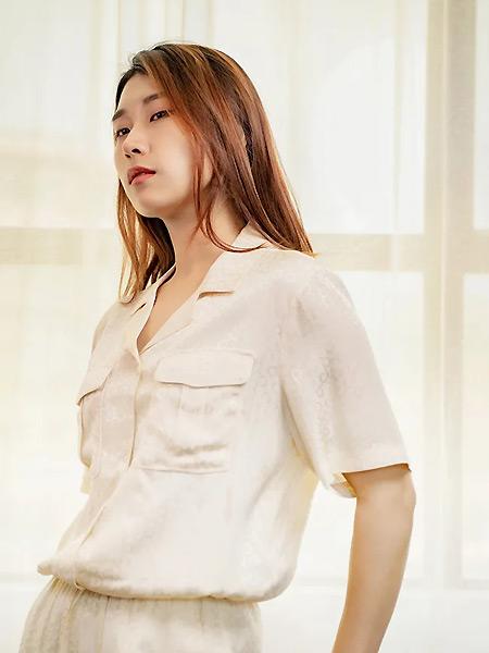 SY+女装品牌2021夏季显瘦中袖衬衣