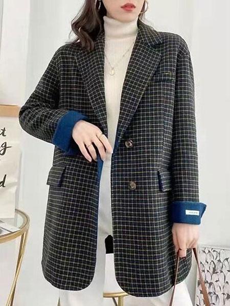 每依站女裝品牌2021春通勤西裝外套