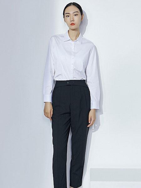 微奢零度女装品牌2021夏季针织弹力免熨烫通勤职业长袖衬衫修身版