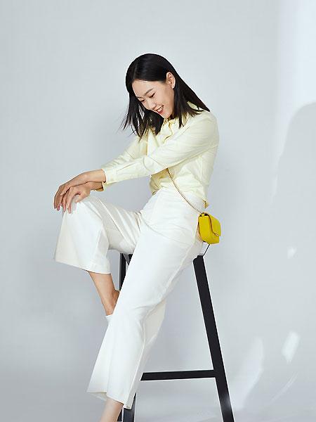 微奢零度女装品牌2021夏季免熨烫通勤职业长袖衬衫修身版鹅黄色