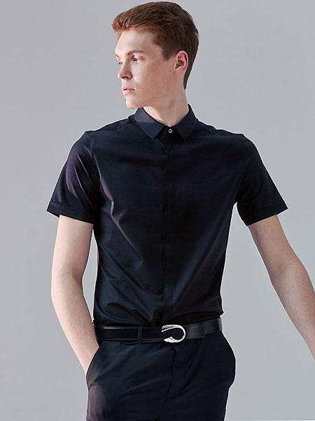 微奢零度男装品牌2021夏季纯色抑菌短袖衬衣