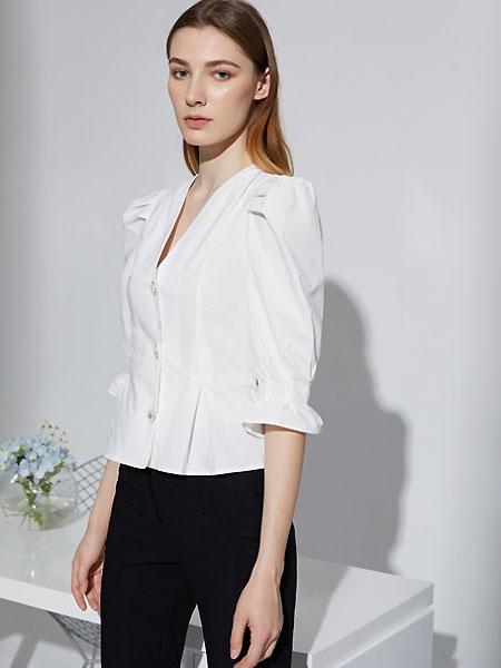 奧倫提女裝品牌2021夏季V領純色時尚外套
