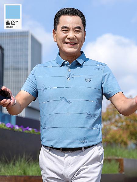 2021夏季中年爸爸夏�b短袖t恤40-50�q中老年男士polo衫