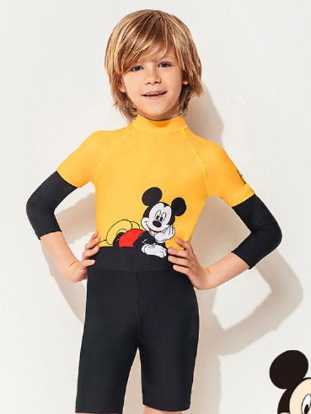 范德安泳衣品牌2021夏季长袖防晒泳衣可爱儿童保守