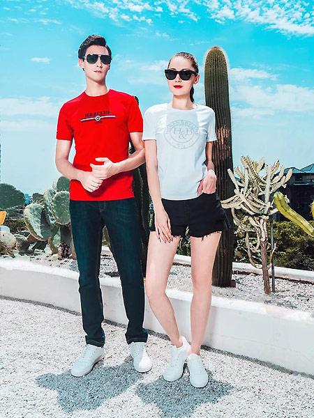 Hilnan&Bellne哈蒙班尼男装品牌2021夏中性红色T恤