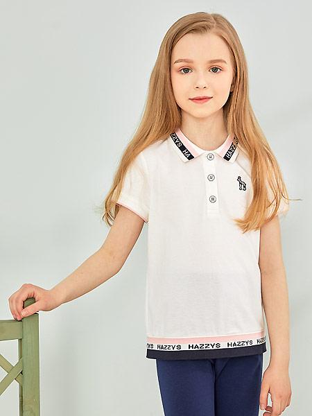 哈吉斯童裝品牌2021夏季居家純棉抑菌POLO衫