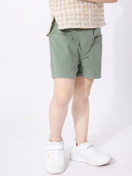 棉绘童装品牌2021夏季纯棉舒适透气休闲百男童潮梭织短裤