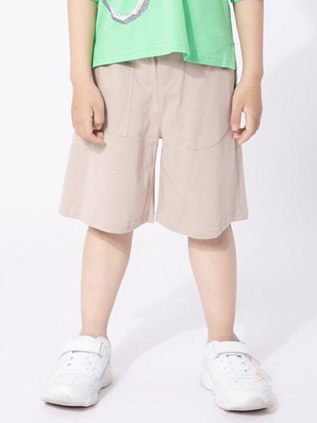 棉繪童裝品牌2021夏季純棉舒適透氣休閑百搭潮針織六分褲