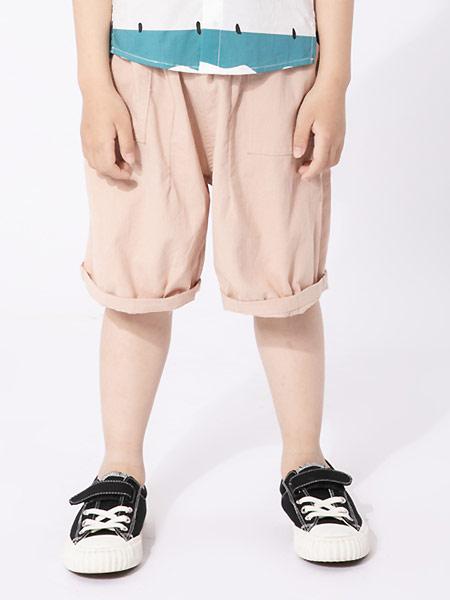 棉绘童装品牌2021夏季舒适休闲时尚百搭运动六分裤短裤