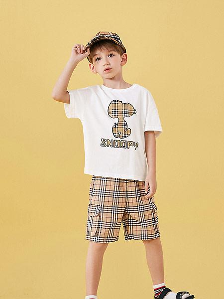 太平鸟童装童装品牌2021夏季休闲白色T恤