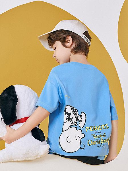 太平鸟童装童装品牌2021夏季蓝色森系宽松T恤