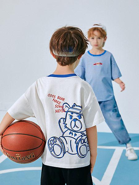 太平鸟童装童装品牌2021夏季运动风透气薄款T恤