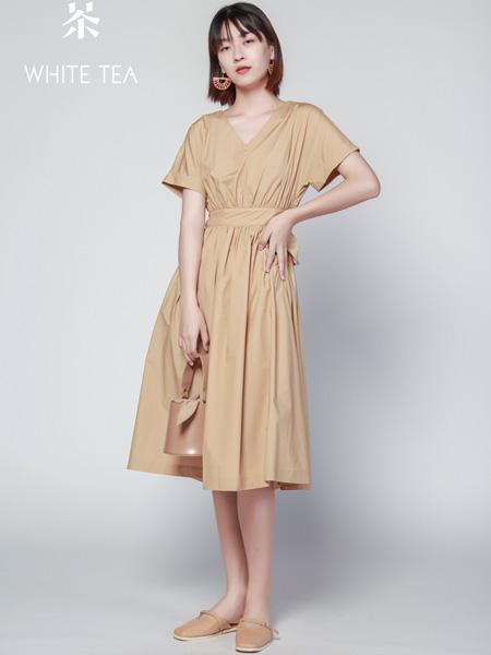 白茶女装品牌2021夏季显瘦长裙气质女生