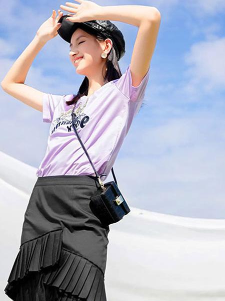 ANOTHER ONE女裝品牌2021夏季新款快時尚短袖半身裙