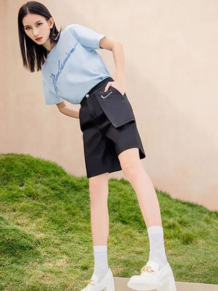 ANOTHER ONE女裝品牌2021夏季新款女神T恤短褲套裝