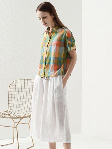 约布女装品牌2021夏季新款格子衬衫套装