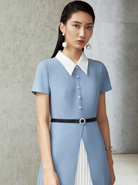 LAI睐女装品牌2021夏季新款正装连衣裙