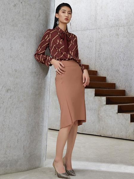 LAI睐女装品牌2021夏季新款衬衫包臀裙套装