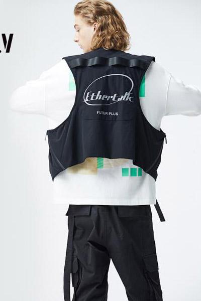 GGVV男装品牌2021春夏新款宽松字母印花套装