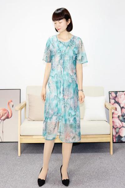 靓漫蒂女装品牌2021夏季时尚连衣裙