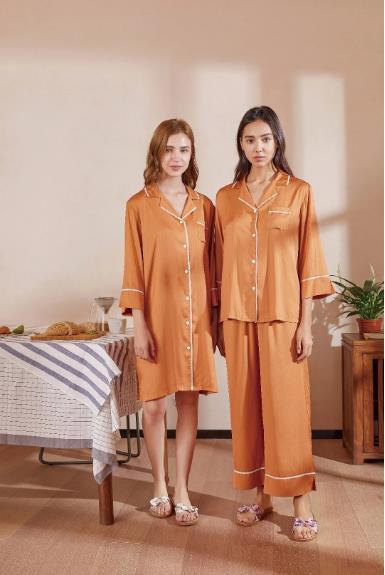绮瑞内衣品牌2021夏季短袖薄款冰丝睡衣