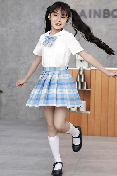 淘帝童裝品牌2021夏季JK制服裙夏季兒童校園校服正版全套學院風套裝夏天短裙水手服