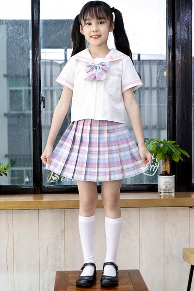 淘帝童裝品牌2021夏季正版全套學院風短裙子水手服中大童12歲