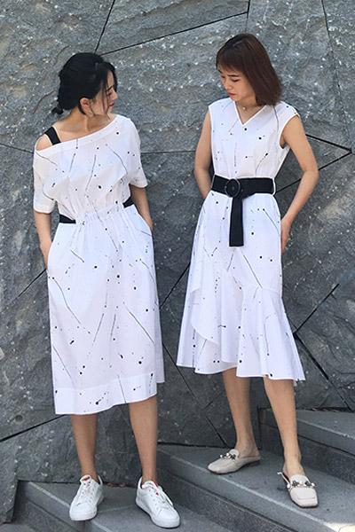 沐紫格女装品牌2021夏季森系长裙甜美有气质洋气