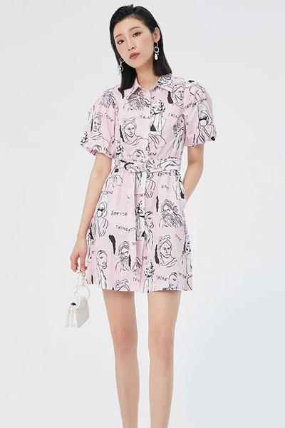 2021夏季夏女花版�B衣裙