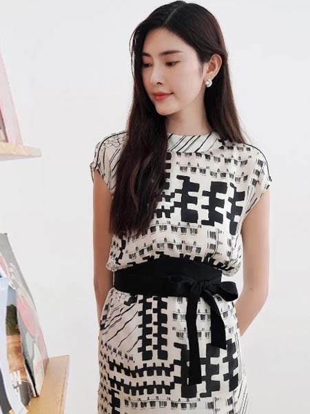 杰西女装品牌2021夏季休闲连衣裙气质修身裙子