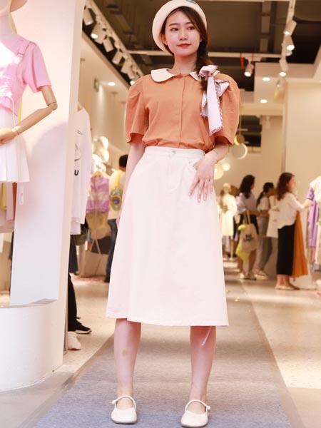 瑶丫头女装品牌2021夏季衬衫收腰显瘦半身裙子百搭