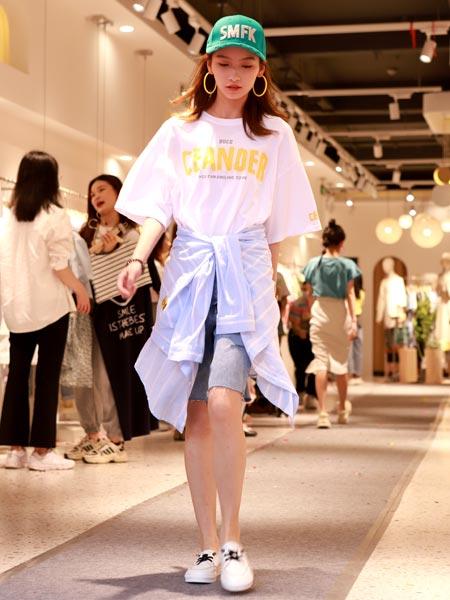 瑶丫头女装品牌2021夏季韩版宽松字母T恤加衬衫