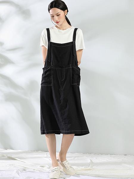 布伊轨道女装品牌2021夏季休闲吊带牛仔裤