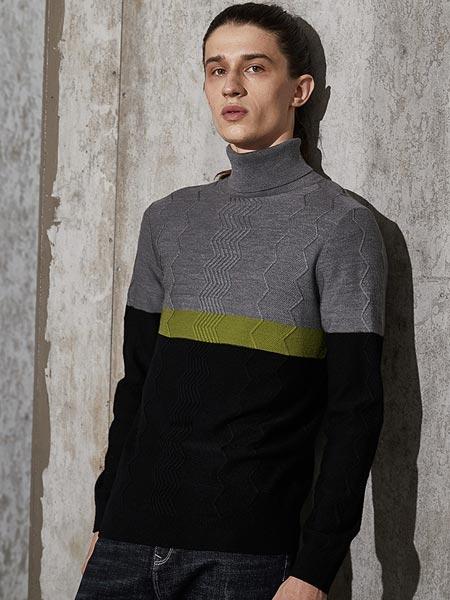 阿仕顿artsdon男装品牌2021春夏撞色纹路长袖衬衫