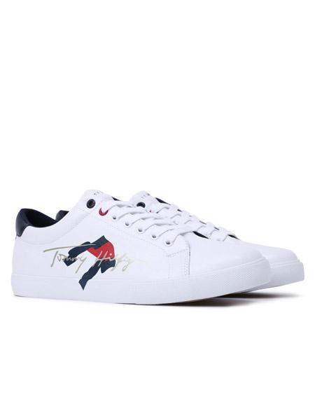 Brooks Brothers布克兄弟男装品牌2021春夏新品旗标LOGO印花小白鞋