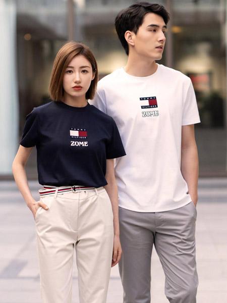 Brooks Brothers布克兄弟男装品牌2021春夏新款春夏男女同款丝光棉几何印花T恤