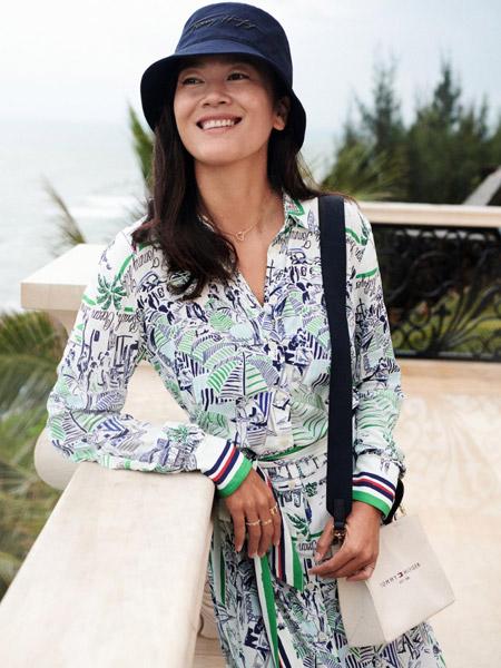 Brooks Brothers布克兄弟男装品牌2021春夏街潮时尚含桑蚕丝创意印花连衣裙