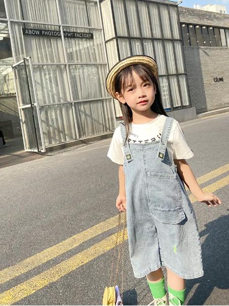 贝贝依依童装品牌2021春夏韩版背带裤搭配T恤