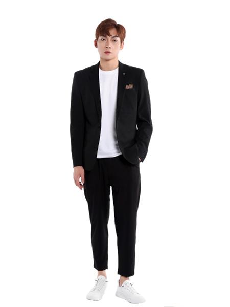 �戈�T男装品牌2021夏季商务T恤西装外套