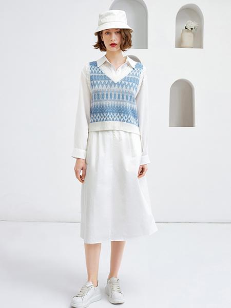 Feelfable感寓女装品牌2021春夏撞色针织背心