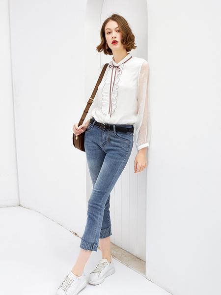Feelfable感寓女装品牌2021春夏淑女薄款透气衬衫