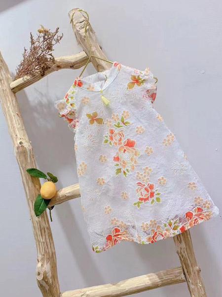 小嗨皮童装品牌2021夏季中国风刺绣旗袍