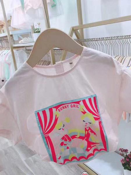 小嗨皮童装品牌2021夏季弹力休闲T恤