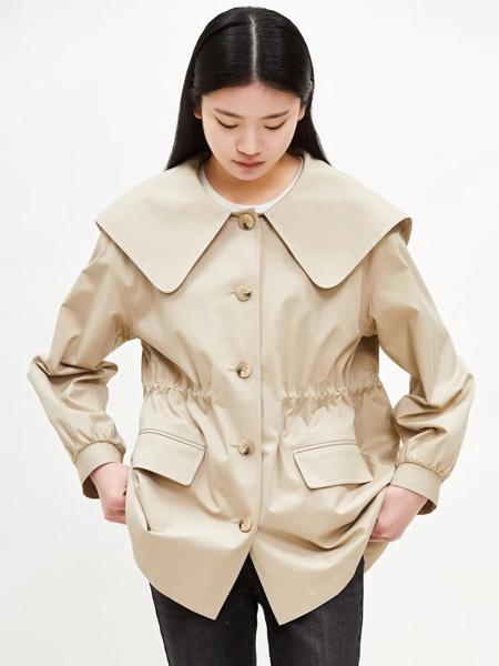 恩瑞妮女装品牌2021秋季纯色修身外套